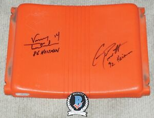 Testaverde & Torretta Hurricanes HEISMAN Signed ORANGE BOWL Seat + BECKETT COA