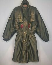 Vintage Descente Long Ski Coach Coat Canada Ski Team Pearlescent Green XS UNISEX