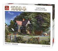 1000 Piece Jigsaw Puzzle Roses House Country Cottage & Vintage Classic Car 05679