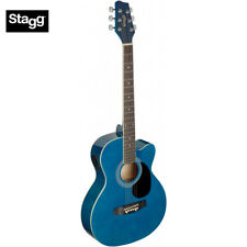 Stagg SA20ACE Full Size Cutaway Auditorium Style Acoustic Electric Guitar - Blue