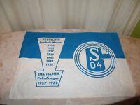 "FC Schalke 04 Originale kleine Fahne/Flagge 70iger Jahre ""Erfolge"" ""S04 Wappen"""