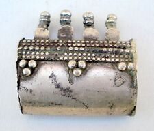 Ancient Tribal Old Silver Pendant Rajasthan India