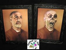 Possessed Priest 3D Horror Portrait - Changing Picture - Scary Halloween Prop x1