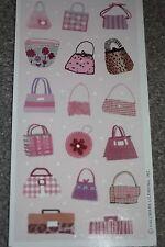 HALLMARK 2 Sheets Pink Chic Purse Clutch Handbag Scrapbooking Stickers 017