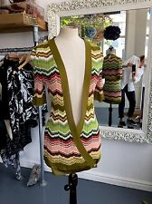 MISSONI Couture Knitted Wrap Summer Short Sleeve Cardigan  Uk 10-12 £595