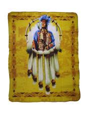 Native American Indian Pride Dreamcatcher Chief 50x60 Polar Fleece Blanket Throw