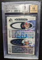 2004 SP GAME USED DREW BLEDSOE TOM BRADY DUAL JERSEY AUTOGRAPH BGS 9 AUTO #11/50