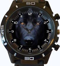 noir berger allemand CLOSEUP cadran tendance sport GT Style unisexe cadeau