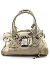 Chloe Paddington White Crème Leather Padlock Satchel, Women's Bag. MSRP +1000$