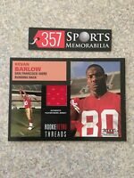 2001 FLEER TRADITION KEVAN BARLOW ROOKIE RETRO THREADS GAME USED JERSEY 49ERS