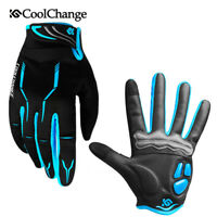Winter Sports Full Finger Gloves Breathable MTB Bike Bicycle Cycling Gloves Blue