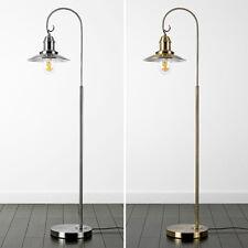 Fishermans Industrial Floor Standard Lamp Glass Shades Vintage LED Filament Bulb