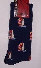 Yachts on navy Mens/Womens Socks