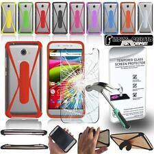 Per ARCHOS telefoni cellulari in Vetro Temperato Proteggi Schermo + Custodia Paraurti in Silicone