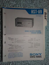 Sony hst-69 service manual original repair book stereo receiver tape deck player