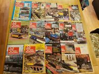 16 Issues 1988-1990 Huge Collection Lot O Scale Gauge Model Railroading Magazine