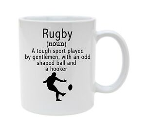 RUGBY MUG FOR HIM PERSONALISED