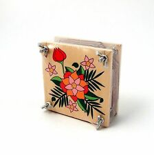 Flower Press Wood with Metal Screws for Dried Leaves + Flowers 10cms x 10cms