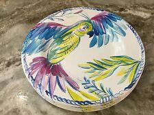 Colorful Parrots Melamine Salad Plates. Artistic Accents. Set Of 4. Durable New