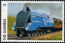 LNER Class A4  No.4468 MALLARD 4-6-2 Train Locomotive Stamp (1997 Gambia)