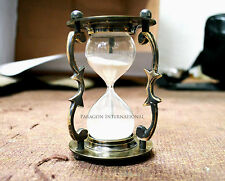Brass Hourglass Sand timer Hand Carved Nautical Decor Table Top Item