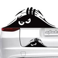 Black Peeking Monster Sticker Vinyl Waterproof Decal For Car Window Accessories