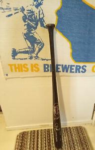 Robin Yount Milwaukee Brewers autographed baseball bat Black Louisville 125 COA