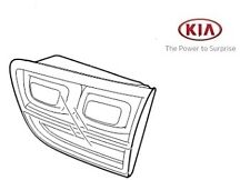 Genuine Kia Sorento 2010-2013 Rear Lamp Assy - LED type - INNER LH 924052P100