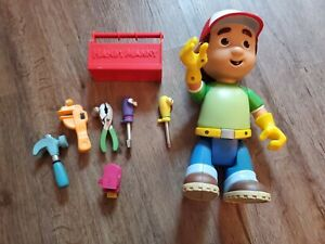Handy Manny Let's Get To Work Taking Doll Toy With Toolbox lot works great EUC