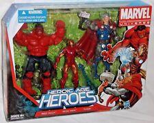 HASBRO Marvel Universe HEROIC AGE HEROES THOR IRON MAN RED HULK Avengers 3pk set