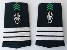 Fourreaux d'épaules Grades Galons pour CAPITAINE du Cavalerie 1°REC Légion