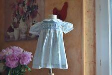 robe cyrillus 6 mois petites fleurs dans le bleu col clodine smok en haut
