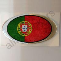 Pegatina Portugal Ovalada Pegatinas Bandera Vieja Adhesivo 3D Resina