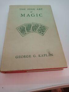 Vintage Magic card tricks Book the fine art of magic George G Kaplan 1948