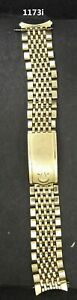 """11/73 Vintage & Authentic Omega 14K gf  wristwatch band  6.25"""" long,  very nice"""