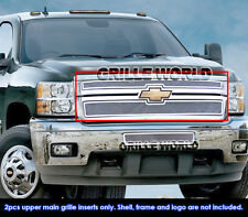 Chevy Silverado 2500HD/3500HD Stainless Steel Mesh Grille Grill Insert 2011-2014