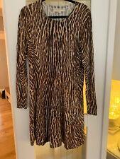 Michael Kors Animal Print Knitted Dress Size Large