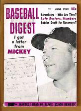 1962 Baseball Digest Mickey Mantle