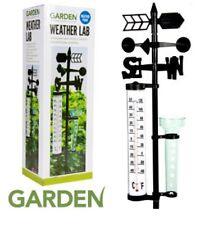 NUOVA Stazione meteorologica da esterni giardino Lab Vento Spinner, termometro, Vaso di pioggia