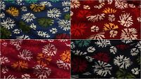 Indian Hand Block Print 100% Natural Cotton Voile Fabric Sewing Material By YD