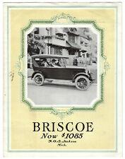 Briscoe automobiles 1920 tri-folded advertisement - Jackson, Michigan