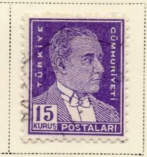 Turkey 1950 Early Issue Fine Used 15k. 093526