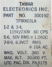 Tamar Vacuum Tube Filiment Transformer input: 115V / 230V @ 6.3 Vct @ 10A