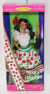 Mexican Barbie Dolls of the World Collector Edition Mattel NIB  #14449 1995