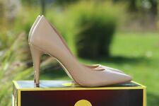 Aldo Escarpins Stiletto High Heels beige nude cuir veritable 39 porté Pfennig Paragraphe