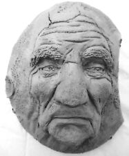 "Handmade Wise Old Man Moon, 8"" Original Folk Art Sculpture by Claybraven"