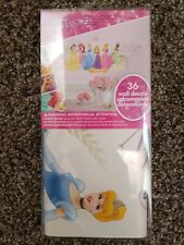DISNEY PRINCESSES Wall stickers 36 decals NEW DESIGN Ariel Rapunzel Cinderella +