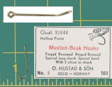 Mustad Porgy Sea Bass Fishing Hooks Beak 92646 Size 8 Qty 200