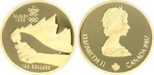 Kanada 100 Dollar Gold 1987 Olympia Calgary 1988 1/4 Unze, Polierte Platte