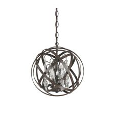 Capital Lighting Axis 3 Light Pendant With Crystals Included, Russet - 4233RS-CR